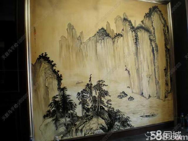天涯鸟手绘墙画,手绘壁画,大型壁画~环保防水防晒不退色,最低10年质